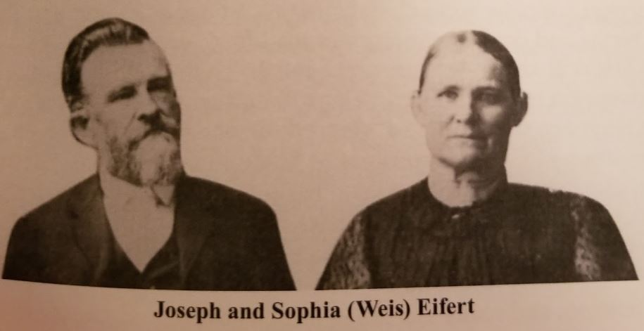 A photo of Joseph Eifert and Sophia (Weis) Eifert.